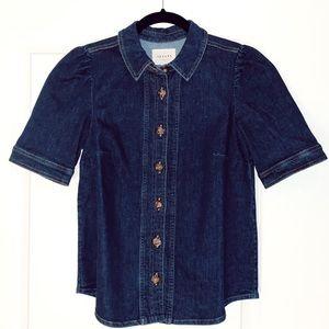 "Sezane ""Kendall"" Denim Shirt"